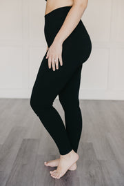 tummy tuck leggings in black