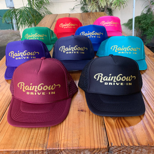 Trucker Hats, Gold Foil Logo