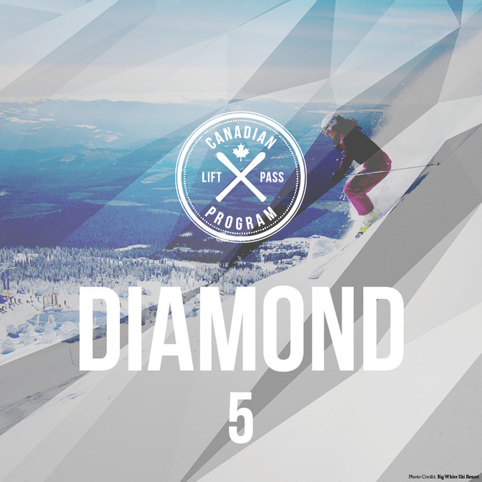 Diamond Canadian Lift Pass - 5 pack