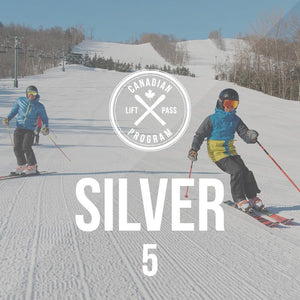 Silver Canadian Lift Pass - 5 pack