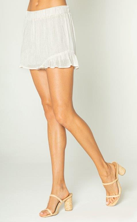 Side Ruffle Short
