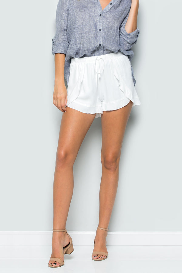 Draped Ruffle Shorts