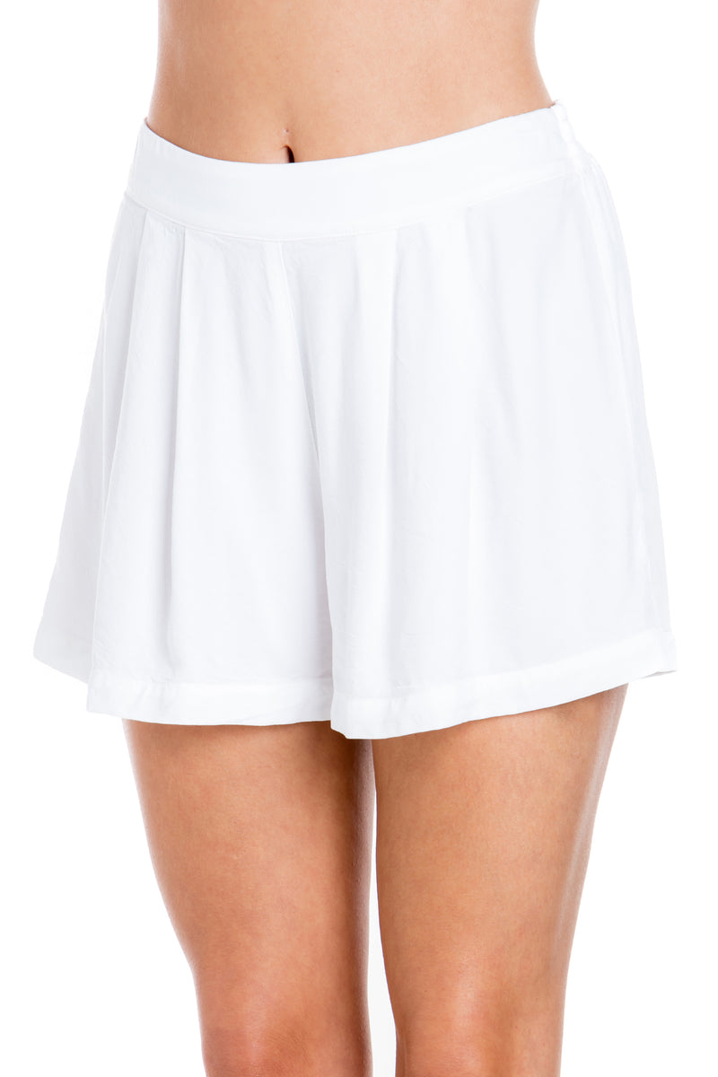 Pleated Beach Front Shorts