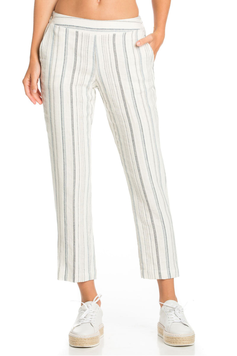 Tapered Striped Pants