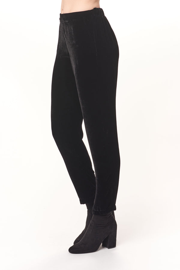 Silk Velvet Tapered Pants