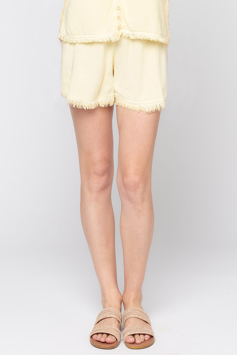 Frayed Tencel Vaycay Shorts