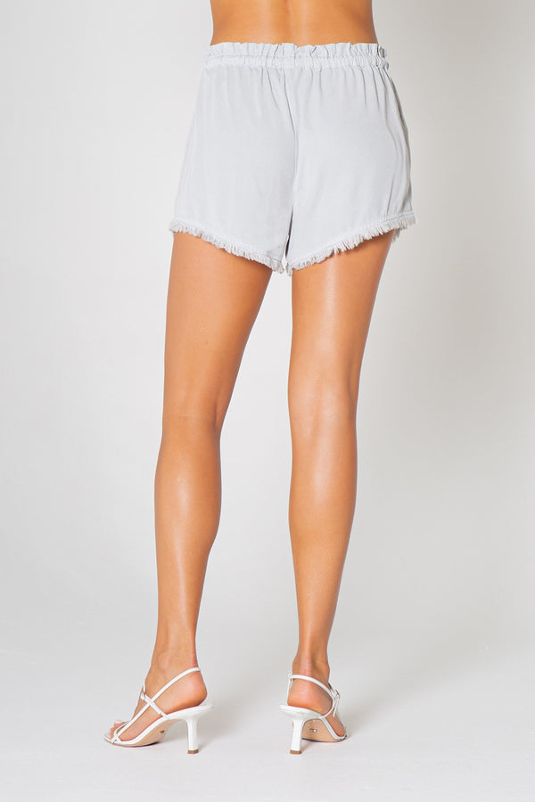 Drawstring Fray Shorts