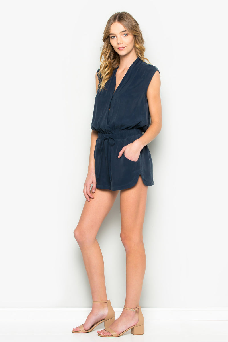 Wrap Front Sleeveless Romper
