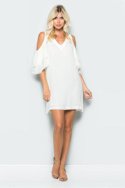 Cold Shoulder A-line Dress