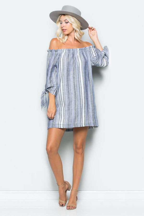 Tie Knot Off Shoulder Dress