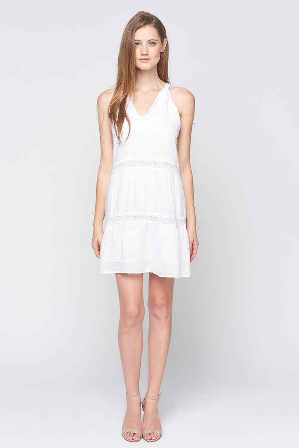 Sleeveless Lace Inset Dress
