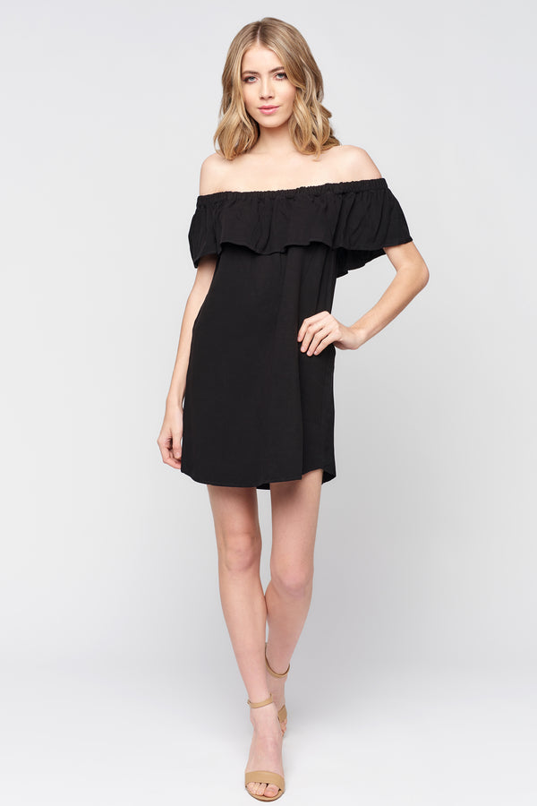 Off The Shoulder Tiered Ruffle Dress