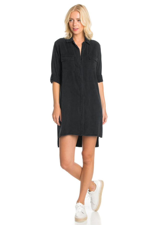 Collared Shirt Dress