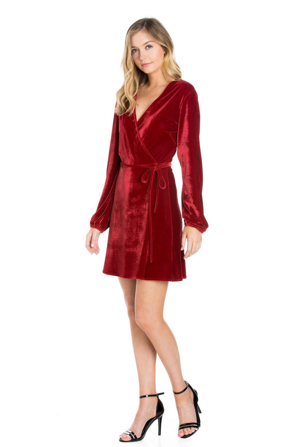 Silk Velvet Wrap Dress