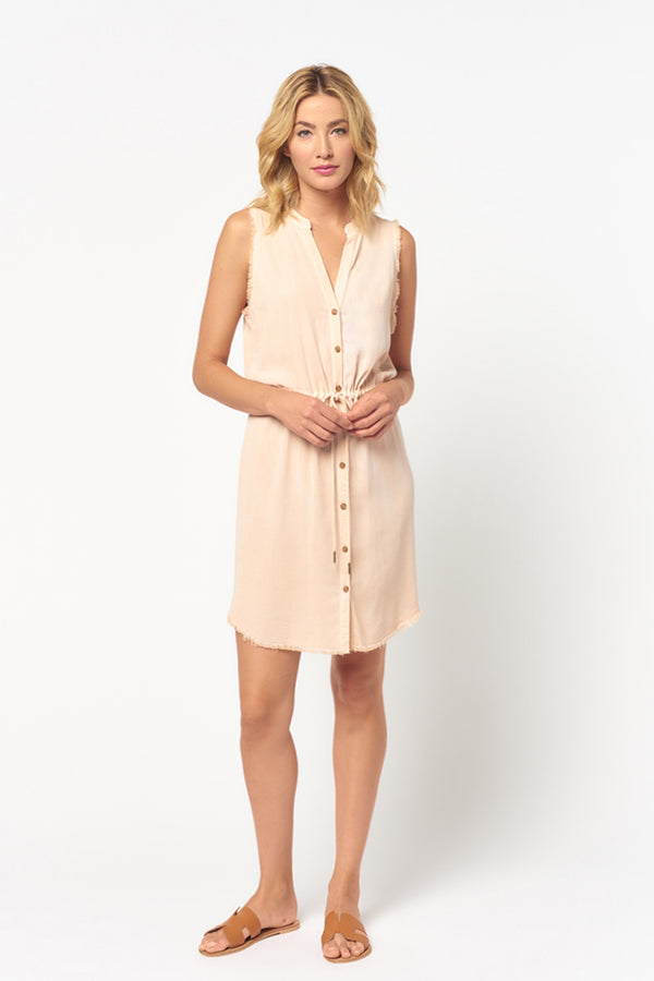 Frayed Sleeveless Dress