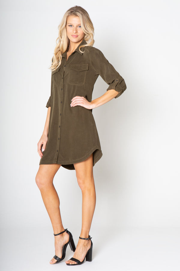 POCKET LONG SLEEVE DRESS