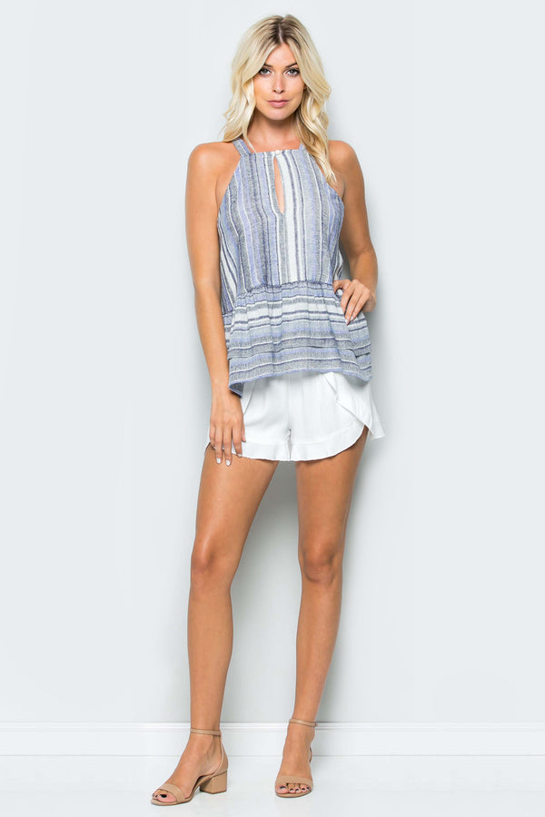 Peplum Tiered Stripe Cami