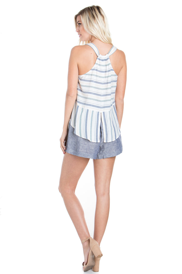 Hampton Stripe Split Back Tank