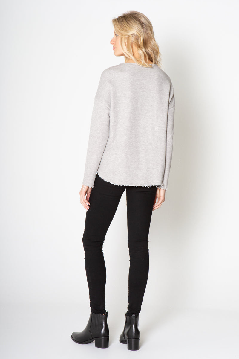 SURPLUS CONTRAST LONG SLEEVE TOP