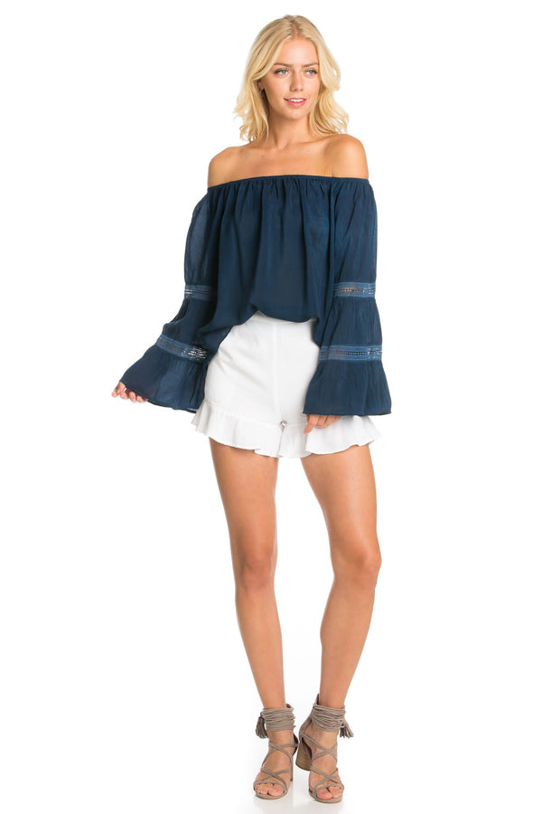 Off Shoulder Base Blouse