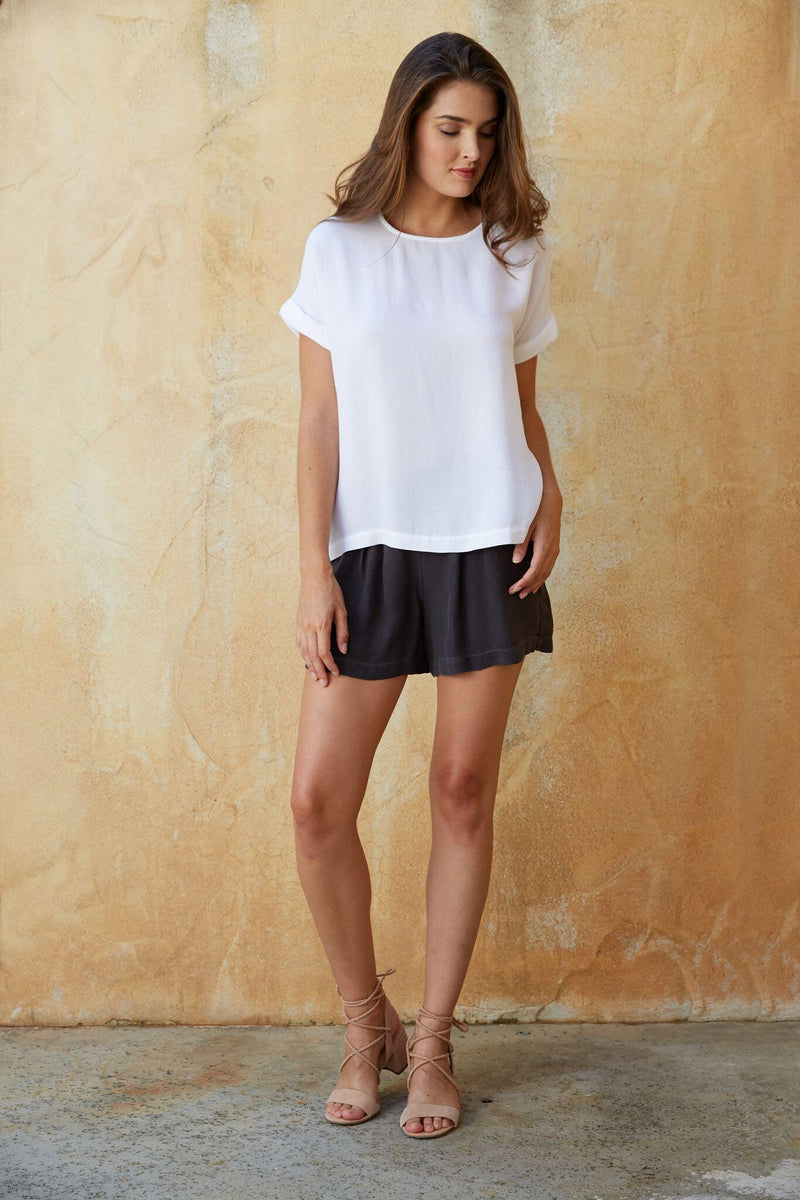 Short Sleeve Cuffed Top