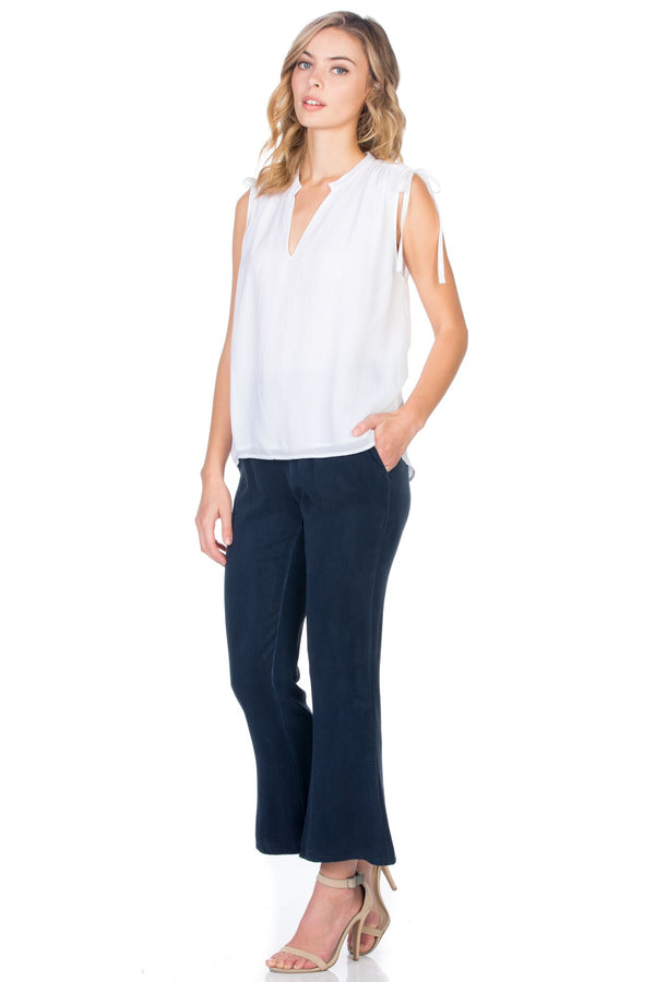 Sleeveless Shoulder Tie Top
