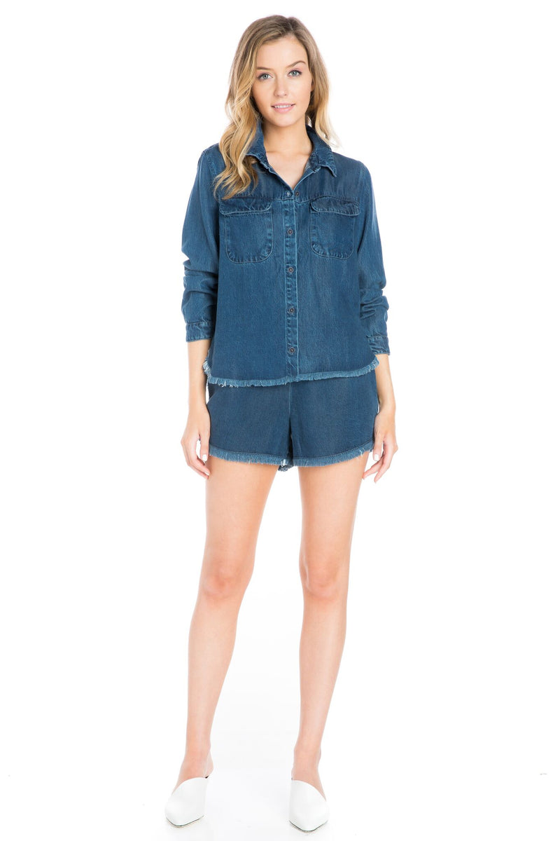 Button Up Denim Shirt