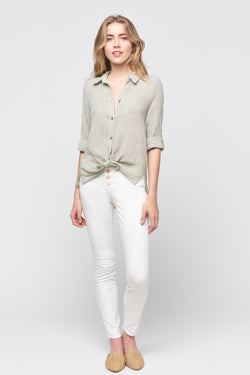 Linen Gauze Button Down Top