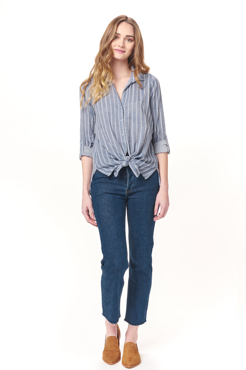 Long Sleeves Button Down Top