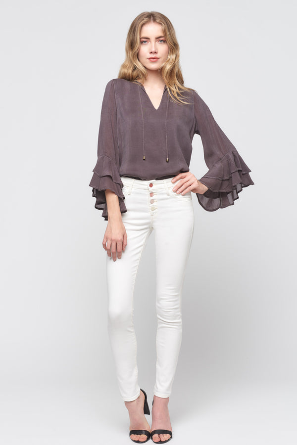 Double Ruffle Sleeve Top
