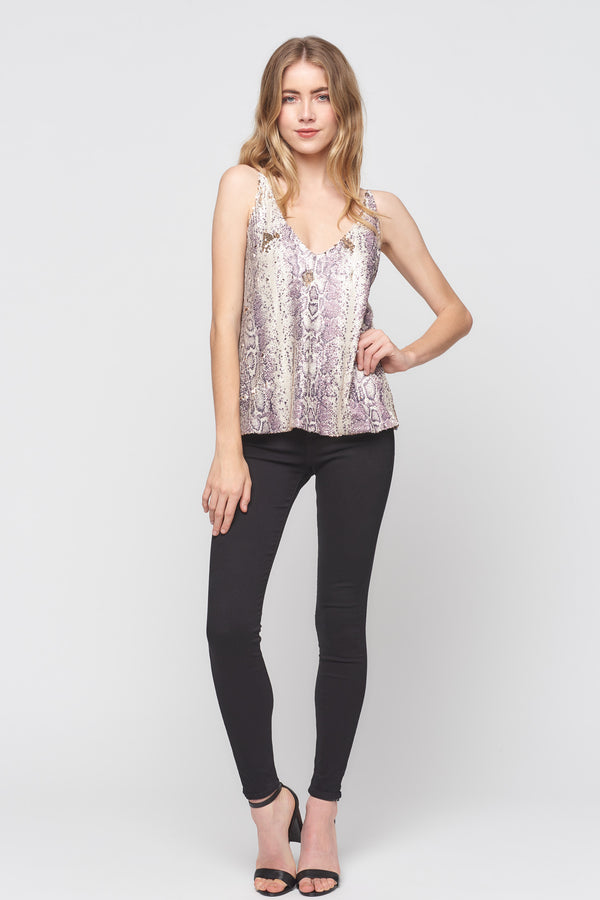 Python Sequin Tank Top