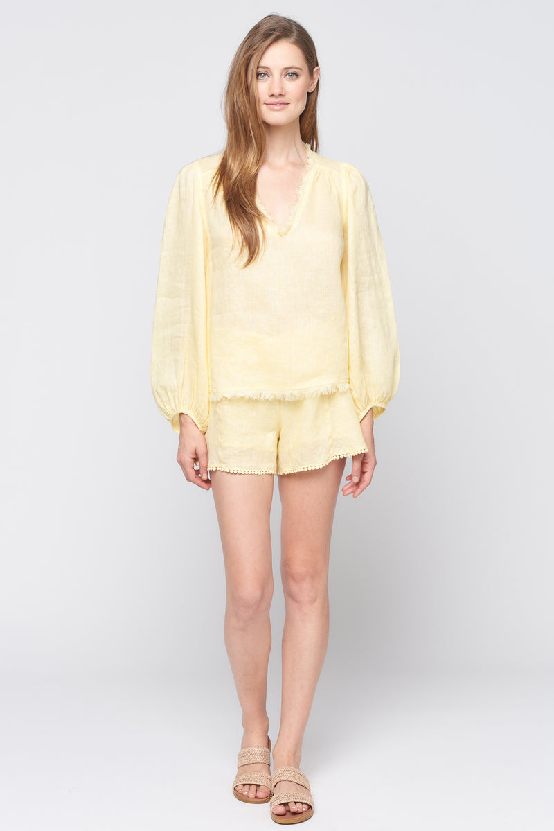 Breeze Long Sleeve Fray Top