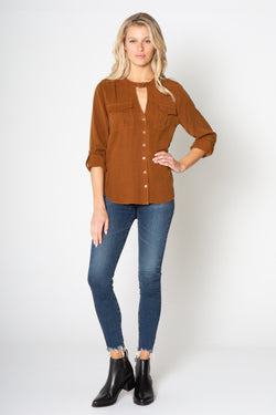 POCKET LONG SLEEVE TOP