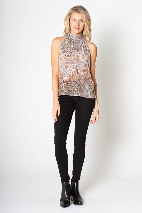 PRINTED HOLTER TOP