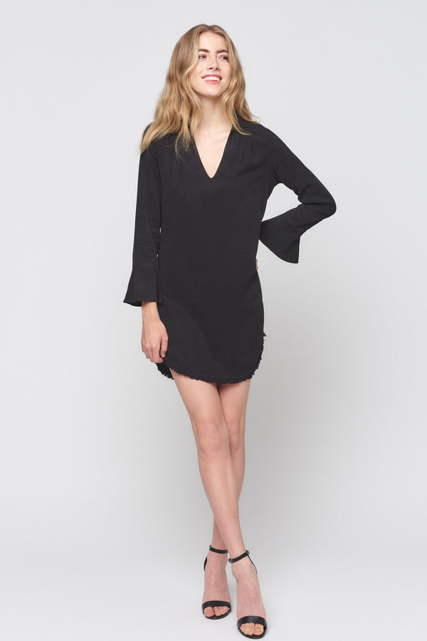 Slit Bell Sleeve Dress
