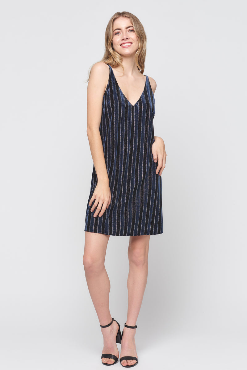 Velvet Stripe Cami Dress