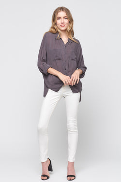 Long Sleeve Cargo Pocket Top