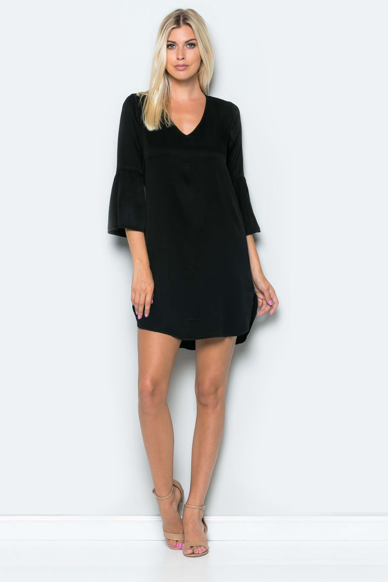 Ruffle Shirt Tail Dress