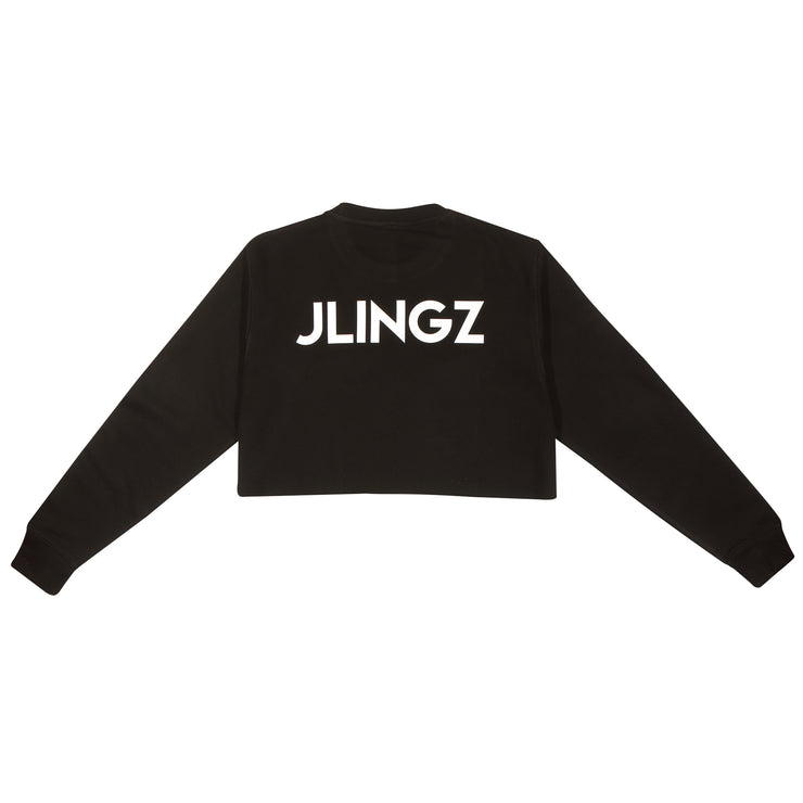 JLINGZ Girls Cropped Sweat | Black