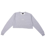 JLINGZ Girls Cropped Sweat | Grey