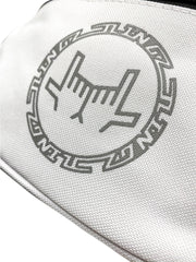 Shoulder Bag Circular Logo White