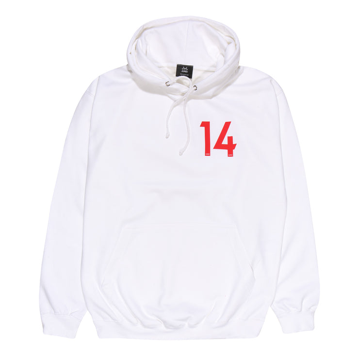 JLINGZ Kids Line Up NO.14 Hoodie | White