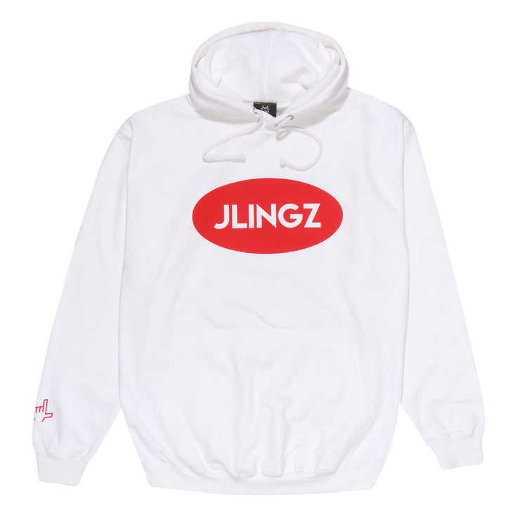JLINGZ Oval Hoodie | White
