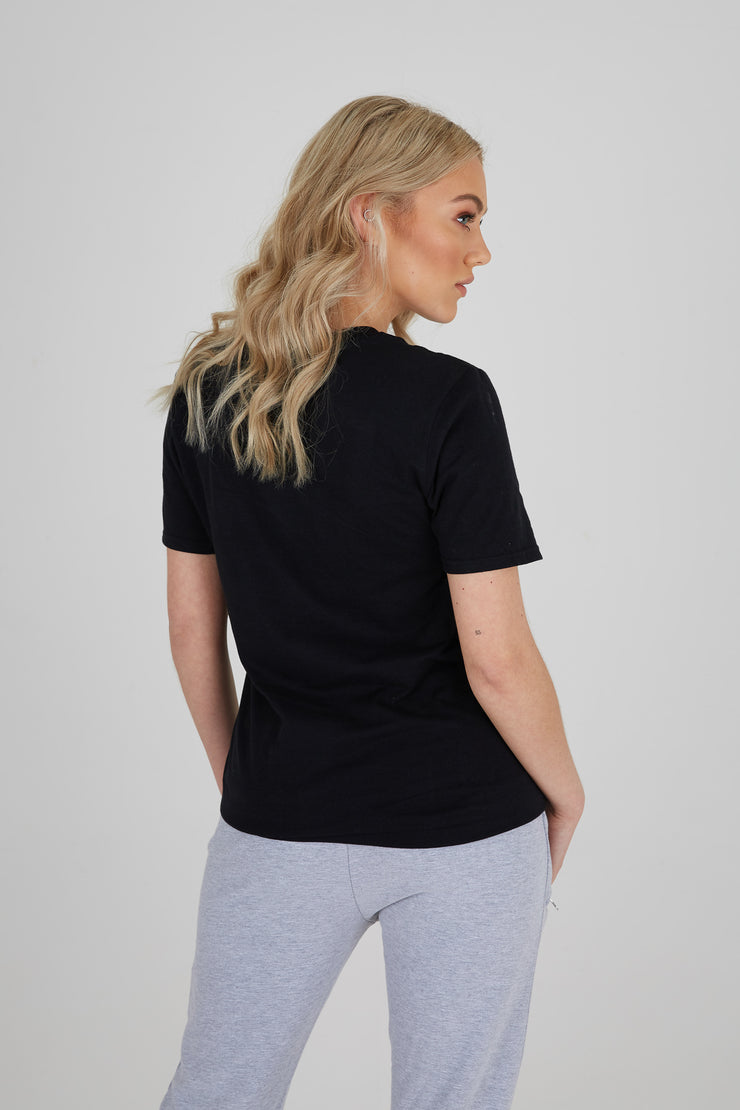 JLINGZ Womens Regular Fit Tee | Black