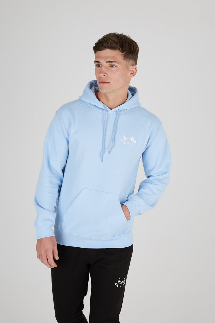JLINGZ Original Logo Hoodie | Light Blue
