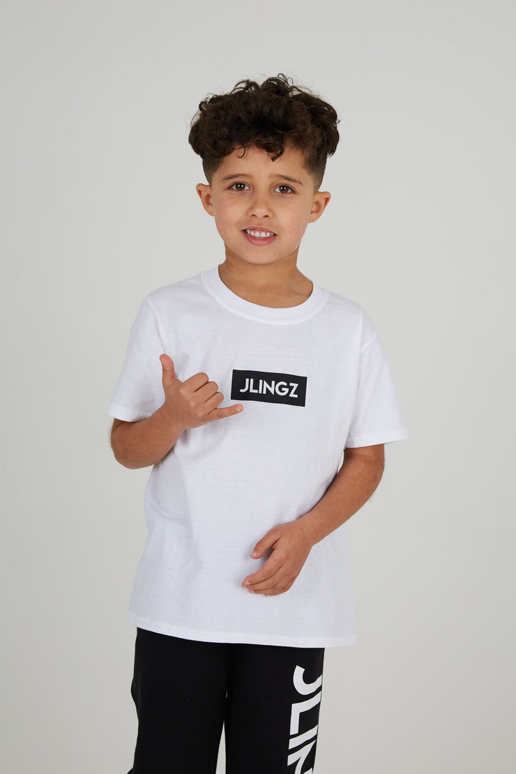 JLINGZ Kids Physicality T-Shirt | White