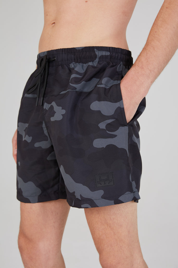 Camo Swim Shorts - Black