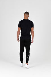 Chevron Black Joggers