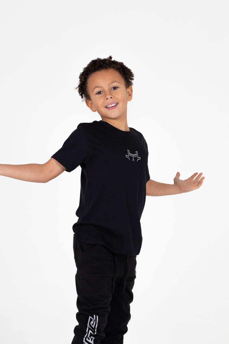 Kids Chevron Black T-Shirt