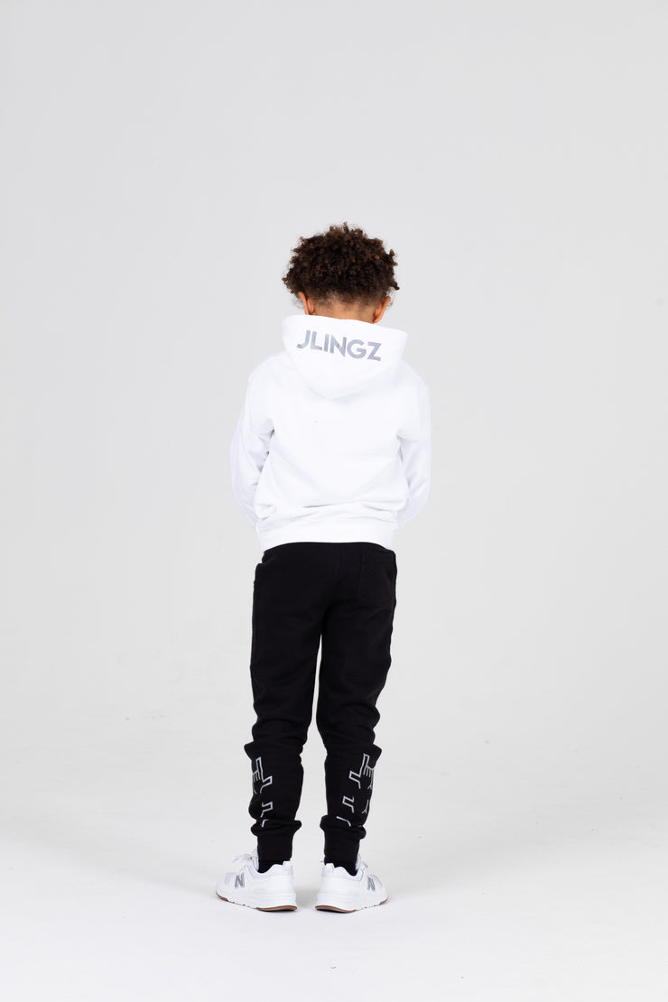 Limited Edition Kids Original Logo Hoodie White / Reflective